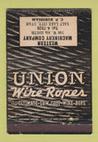 Matchbook Cover - Union Wire Rope Salt Lake City UT WEAR 40 Strike