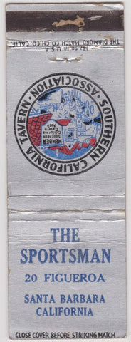 Matchbook Cover - The Sportsman Bar Santa Barbara CA
