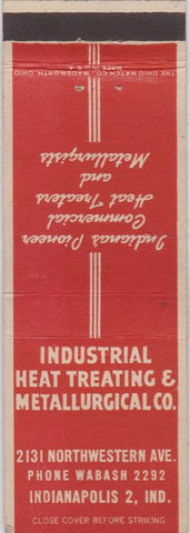 Matchbook Cover - Industrial Heat Treating Metallurgical Indianapolis IN