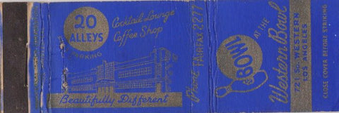 Matchbook Cover - Western Bowling Los Angeles CA WEAR
