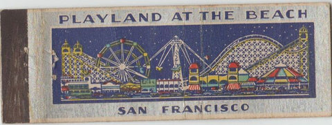 Matchbook Cover - Playland at the Beach San Francisco CA Amusement Park