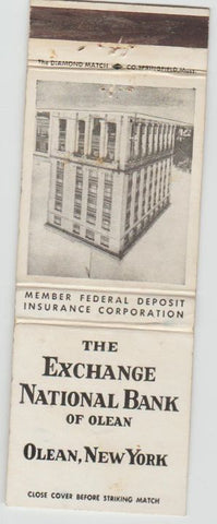 Matchbook Cover - Exchange Bank of Olean NY