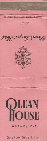 Matchbook Cover - Olean House NY WEAR