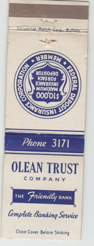 Matchbook Cover - Olean Trust Co NY