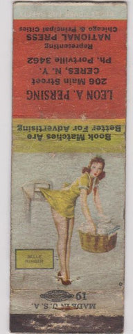 Matchbook Cover - National Press Matchbooks pinup Persing Ceres NY POOR