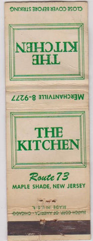 Matchbook Cover - The Kitchen Maple Shade NJ POOR