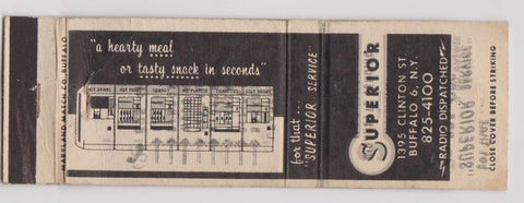 Matchbook Cover - Superior Vending Amusement Buffalo NY WORN