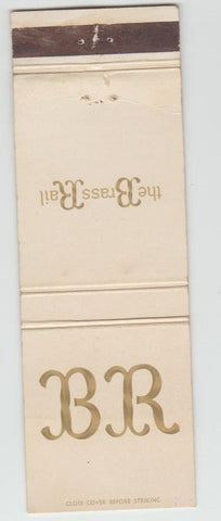 Matchbook Cover - The Brass Rail New York City