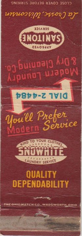 Matchbook Cover - Modern Laundry Dry Cleaning La Crosse WI CREASE