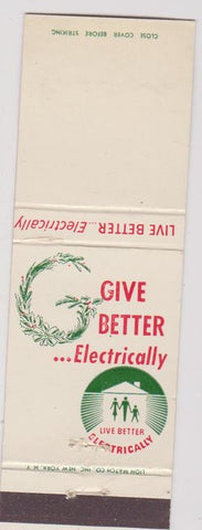 Matchbook Cover - Electricity Christmas BLANK