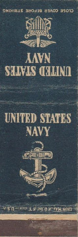 Matchbook Cover - United States Navy CREASES
