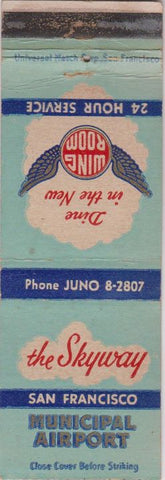 Matchbook Cover - The Skyway San Francisco Municipal Airport CA WEAR