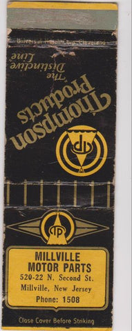 Matchbook Cover - Thompson Auto Parts Millville NJ WORN