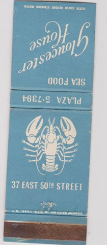 Matchbook Cover - Gloucester House New York City Lobster