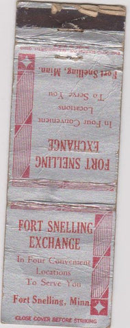 Matchbook Cover - Fort Snelling Exchange MN POOR