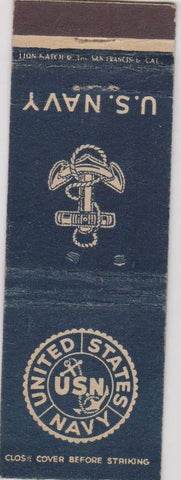 Matchbook Cover - United States Navy WEAR