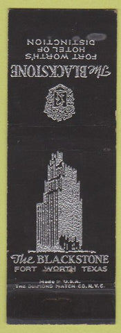 Matchbook Cover - Blackstone Hotel Fort Worth TX