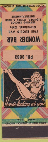 Matchbook Cover - Wonder Bar Cleveland OH girlie