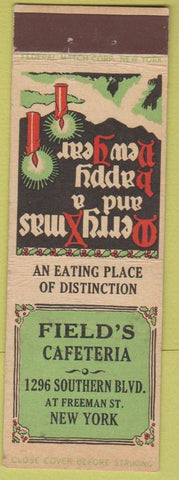 Matchbook Cover - Field's Cafeteria New York City Federal LONG