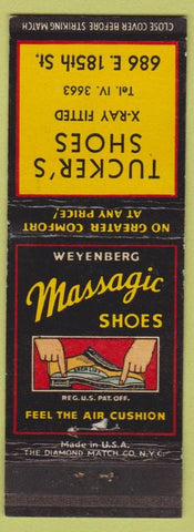 Matchbook Cover - Massagic Shoes Tucker's Shoes NO TOWN