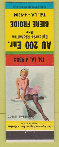 Matchbook Cover - Au 200 Enr Restaurant Biere Froide QC? Pinup