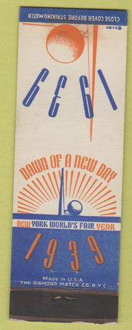 Matchbook Cover - 1939 New York World's Fair