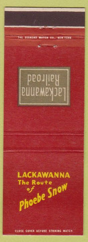 Matchbook Cover - Lackawanna Railroad Route of Phoebe Snow