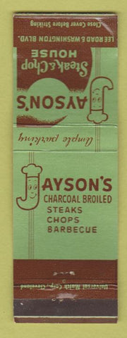 Matchbook Cover - Jayson's Steak House Cleveland? WEAR