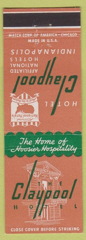 Matchbook Cover - Hotel Claypool Indianapolis IN