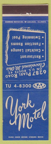 Matchbook Cover - York Motel Cleveland OH