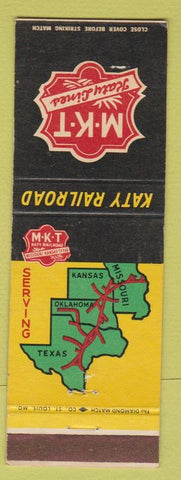 Matchbook Cover - MKT Railroad Katy girlie back