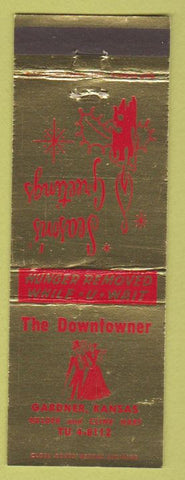 Matchbook Cover - The Downtown Gardner KS