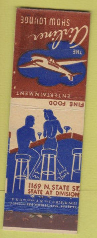 Matchbook Cover - The Airliner Show Lounge Chicago IL feature girlie