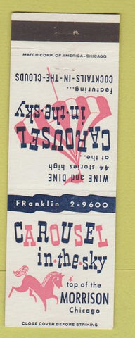Matchbook Cover - Morrison Hotel Chicago IL Carousel in the Sky