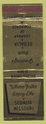 Matchbook Cover - Sedalia MO Chamber of Commerce