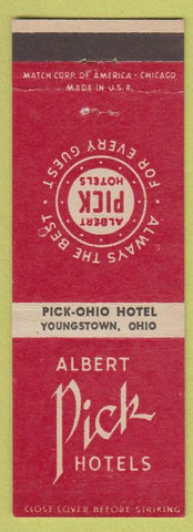 Matchbook Cover - Pick Ohio Hotel Youngstown OH