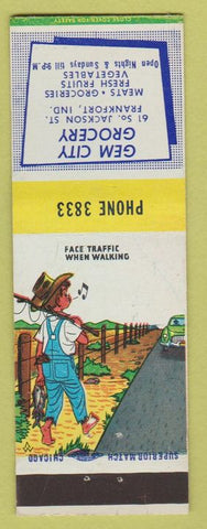 Matchbook Cover - Gem City Grocery Frankfort IN