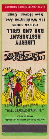 Matchbook Cover - Liberty Restaurant Bar Grill New Haven CT hillbilly