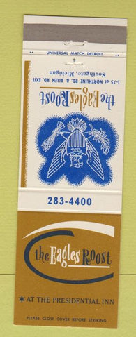 Matchbook Cover - Eagles Roost Southgate MI