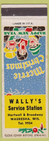 Matchbook Cover - Wally's Service Station Waukesha WI WEAR
