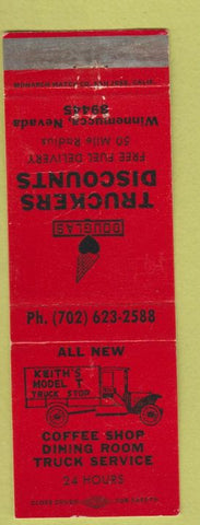 Matchbook Cover - Trukers Discount oil gas Winnemucca NV