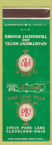 Matchbook Cover - Park LAne Villa Cleveland OH