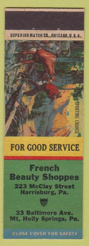 Matchbook Cover - French Beauty Shoppe Salon Mount Holly Springs PA