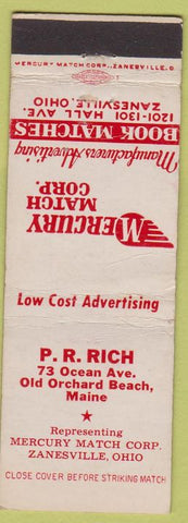Matchbook Cover - Mercury Match Co PR Rich Old Orchard Beach ME