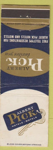 Matchbook Cover - Albert Pick Hotels