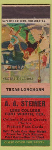 Matchbook Cover - A.A. Steiner Fort Worth TX Match Colelctor
