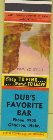 Matchbook Cover - Dub's Favorite Bar Chadron NE