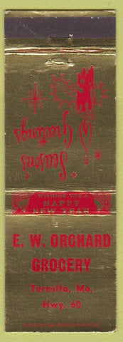 Matchbook Cover - EW Orchard Grocery Teresita MO