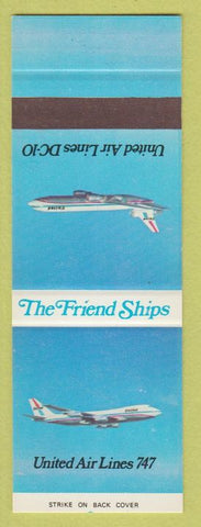Matchbook Cover - United Air Lines DC 10 Friend Ships airline planes