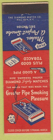 Matchbook Cover - Diamond Safety Matches for pipes Matchbox